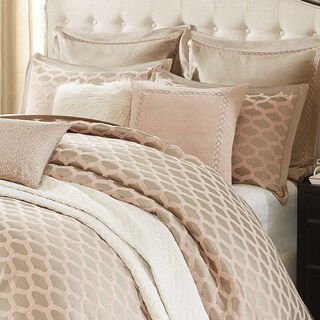 Madison Park Signature Romance Chic Pink Chenille Jacquard Comforter Set (2 options available)