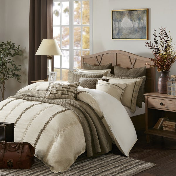 Madison Park Signature Chateau Linen Jacquard Comforter Set