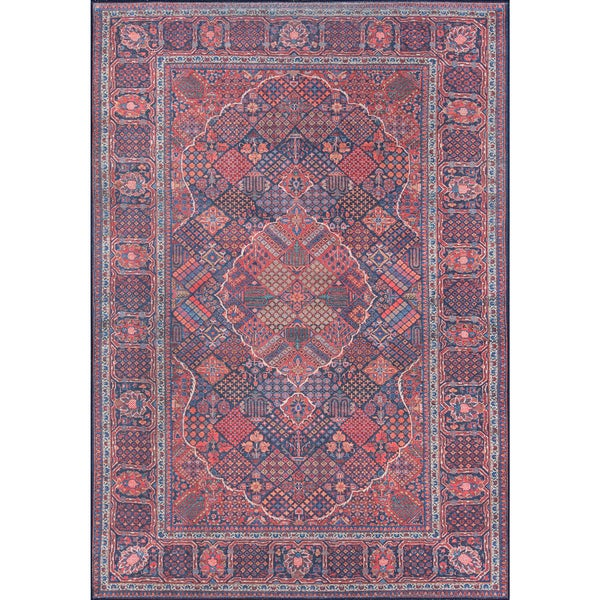 Momeni Afshar Machine Made Polyester Navy Area Rug - 5' x 7'6""