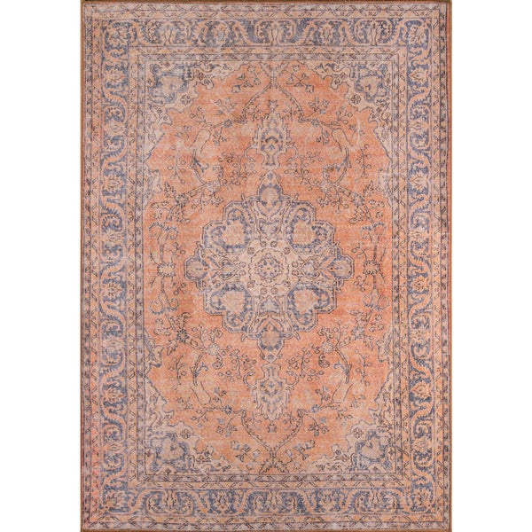 """Momeni Afshar Machine Made Polyester Copper Area Rug - 5' x 7'6"""""""