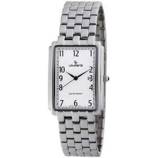 Laurens Basic Women's Stainless Steel Quartz Rectangle Bracelet Watch