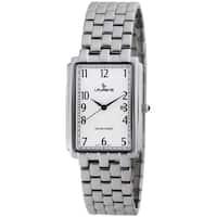 Laurens Basic Women's Stainless Steel Quartz Rectangle Bracelet Watch - Silver