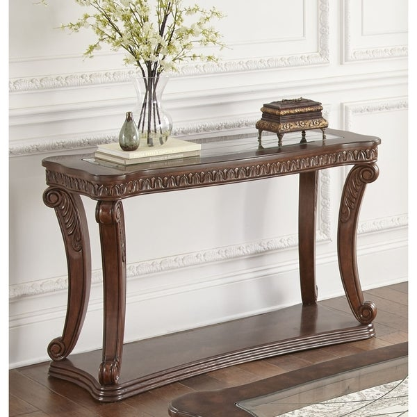 Shop Isabella Carved Sofa Table By Greyson Living Free