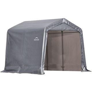 ShelterLogic Grey Steel Framed Peak Storage Shed