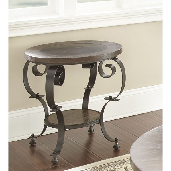 Coffee Table With Bluestone Top: Shop Mayview Round End Table With Bluestone Insert By