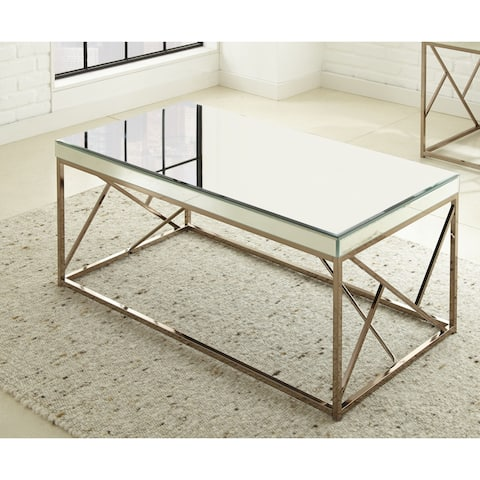 Elsa 48-Inch Mirrored Coffee Table by Greyson Living