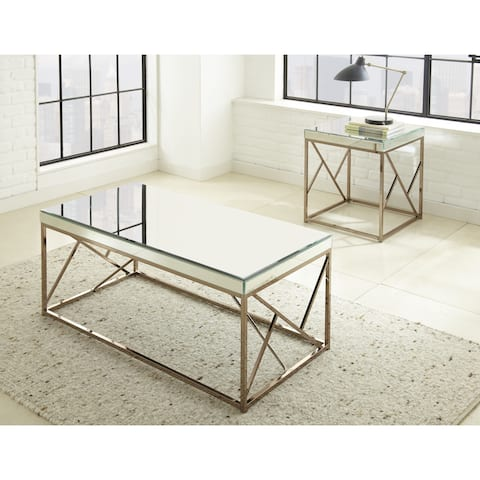Elsa Mirrored End Table by Greyson Living