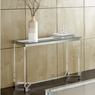 Tamina Contemporary Glass Top Sofa Table by Greyson Living