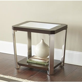 Trimble Mirrored Top End Table by Greyson Living