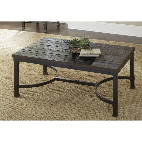 Austin Industrial Style 48 Inch Rectangle Coffee Table By Greyson Living