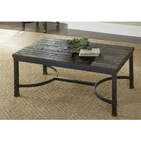 Austin Industrial Style 48-Inch Rectangle Coffee Table by Greyson Living