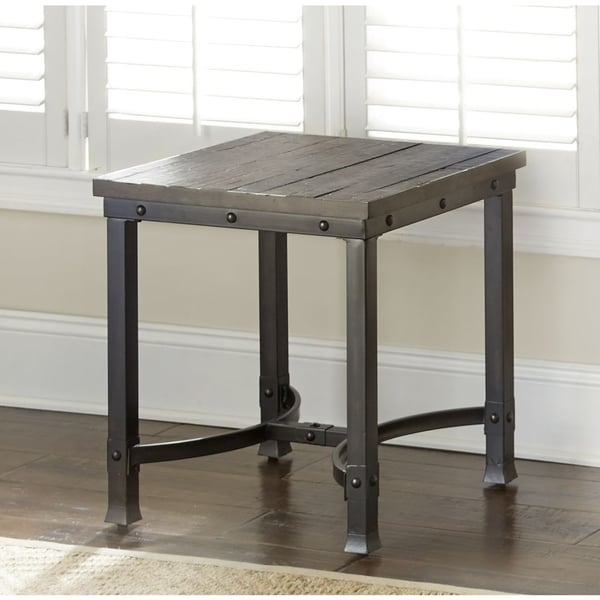 Austin Industrialstyle Wood End Table by Greyson Living Free