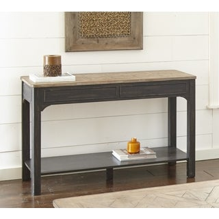 Linwood Two Tone Sofa Table with Storage Shelf by Greyson Living