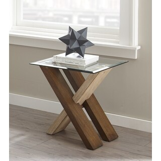 Tennyson Glass Top End Table by Greyson Living