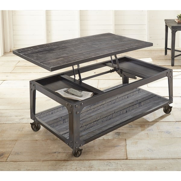 Charmant Springdale Industrial Style 48 Inch Rectangle Lift Top Coffee Table By  Greyson Living