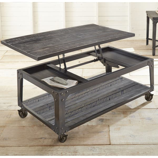 Shop Springdale Industrial Style 48 Inch Rectangle Lift Top Coffee