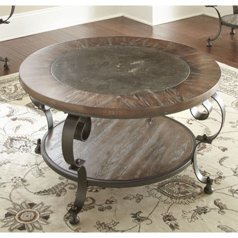 Mayview 36-Inch Round Coffee Table by Greyson Living