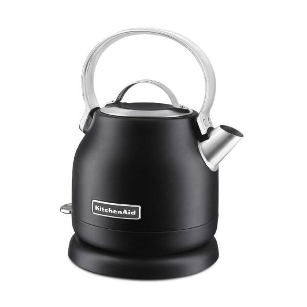 Black Kitchenaid Kettle: Shop KitchenAid 1.2 Liter Electric Kettle, Matte Black