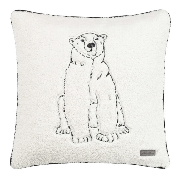 3618806af Shop Eddie Bauer Cozy Polar Bear Throw Pillow - Free Shipping On ...