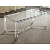 Tamina 47-Inch Contemporary Glass Top Coffee Table by Greyson Living