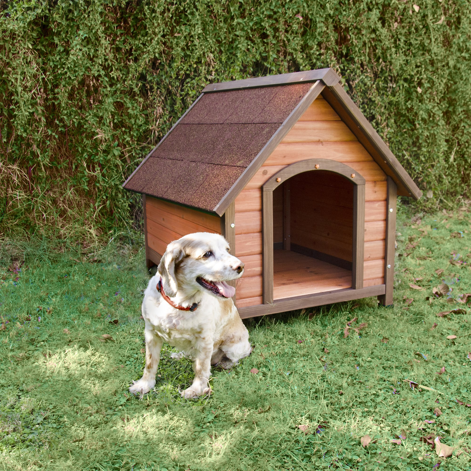 Ware Medium Premium+ A-Frame Doghouse (Medium), Brown
