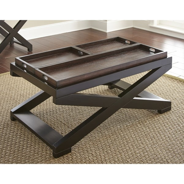 Coffee Table Tray Home Goods: Shop Amherst Two-tone Tray-Top Coffee Table By Greyson
