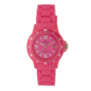 Lauren's Women's Pink Rubber Strap Watch