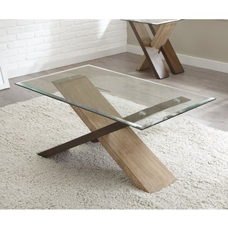Tennyson Glass Top Rectangle Coffee Table  by Greyson Living