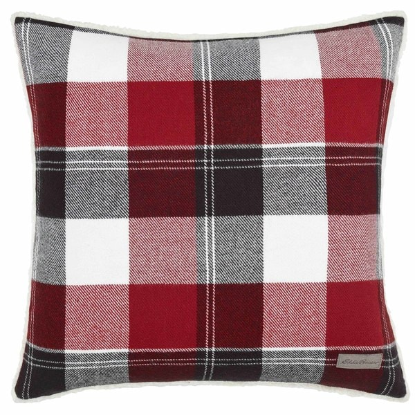 Eddie Bauer Lodge Red Throw Pillow