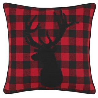 Link to Eddie Bauer Cabin Plaid Stag Head Throw Pillow Similar Items in Decorative Accessories