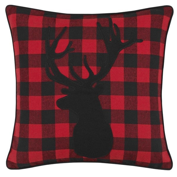 Eddie Bauer Cabin Plaid Stag Head Throw Pillow. Opens flyout.