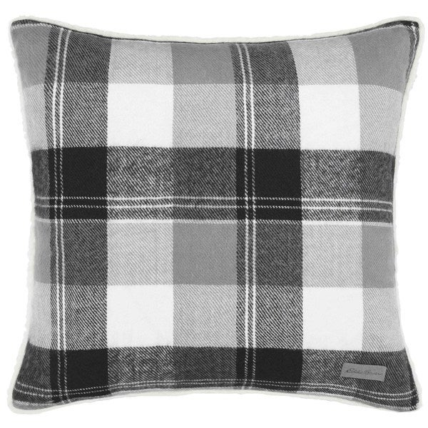 Shop Eddie Bauer Lodge Grey Plaid Throw Pillow Free
