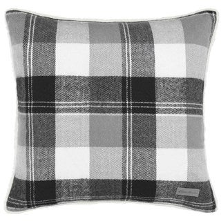Eddie Bauer Lodge Grey Plaid Throw Pillow