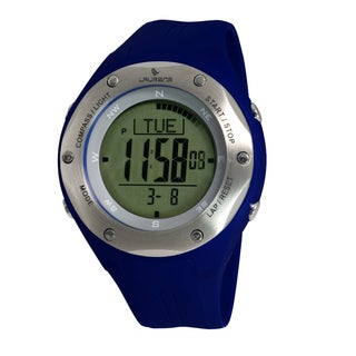 Laurens Men's Blue Rubber Digital Quartz Watch