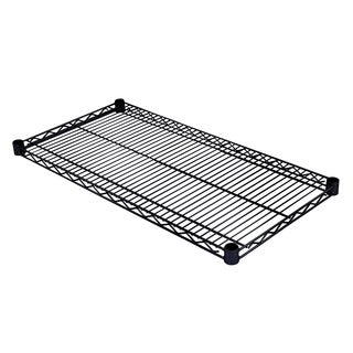 Excel NSF 48in. x 18in. Individual Wire Shelf, Black