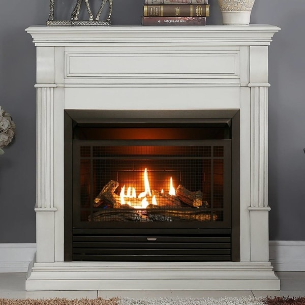 Gas Fireplace: Shop Duluth Forge Dual Fuel Ventless Gas Fireplace