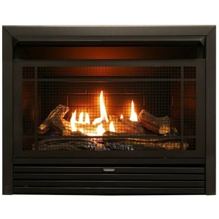 Duluth Forge Dual Fuel Ventless Fireplace Insert - 26,000 BTU, T-Stat Control