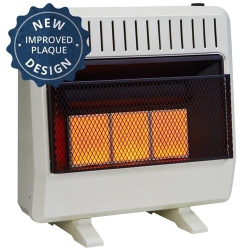 Avenger Dual Fuel Ventless Infrared Heater - 30,000 BTU, ...