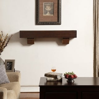 Duluth Forge 48-Inch Fireplace Shelf Mantel With Corbels - Chocolate Finish