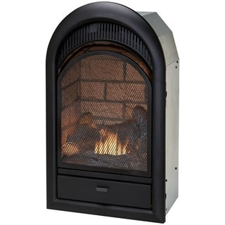 Duluth Forge Dual Fuel Ventless Fireplace Insert - 15,000 BTU, T-Stat, Brick Liner - Model FDF150T