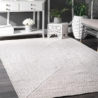 "Oliver & James Rowan Handmade Ivory Braided Area Rug - 7'6"" x 9'6"""