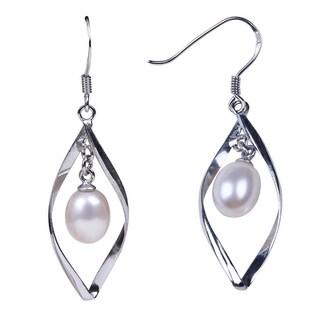 sterling silver pearl earring