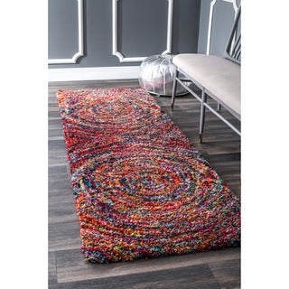 nuLOOM Contemporary Radiance Swirl Shag Multi Runner Rug (2'8 x 8')