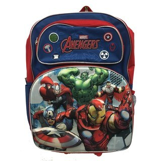 Avengers 3D Classic Red & Blue 16-Inch Backpack