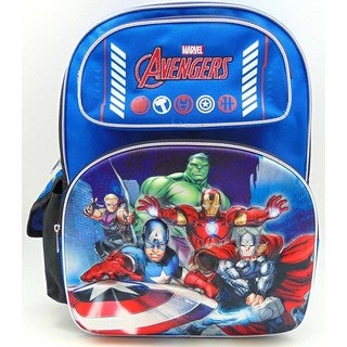 Avengers 3D Classic blue 16-Inch Backpack