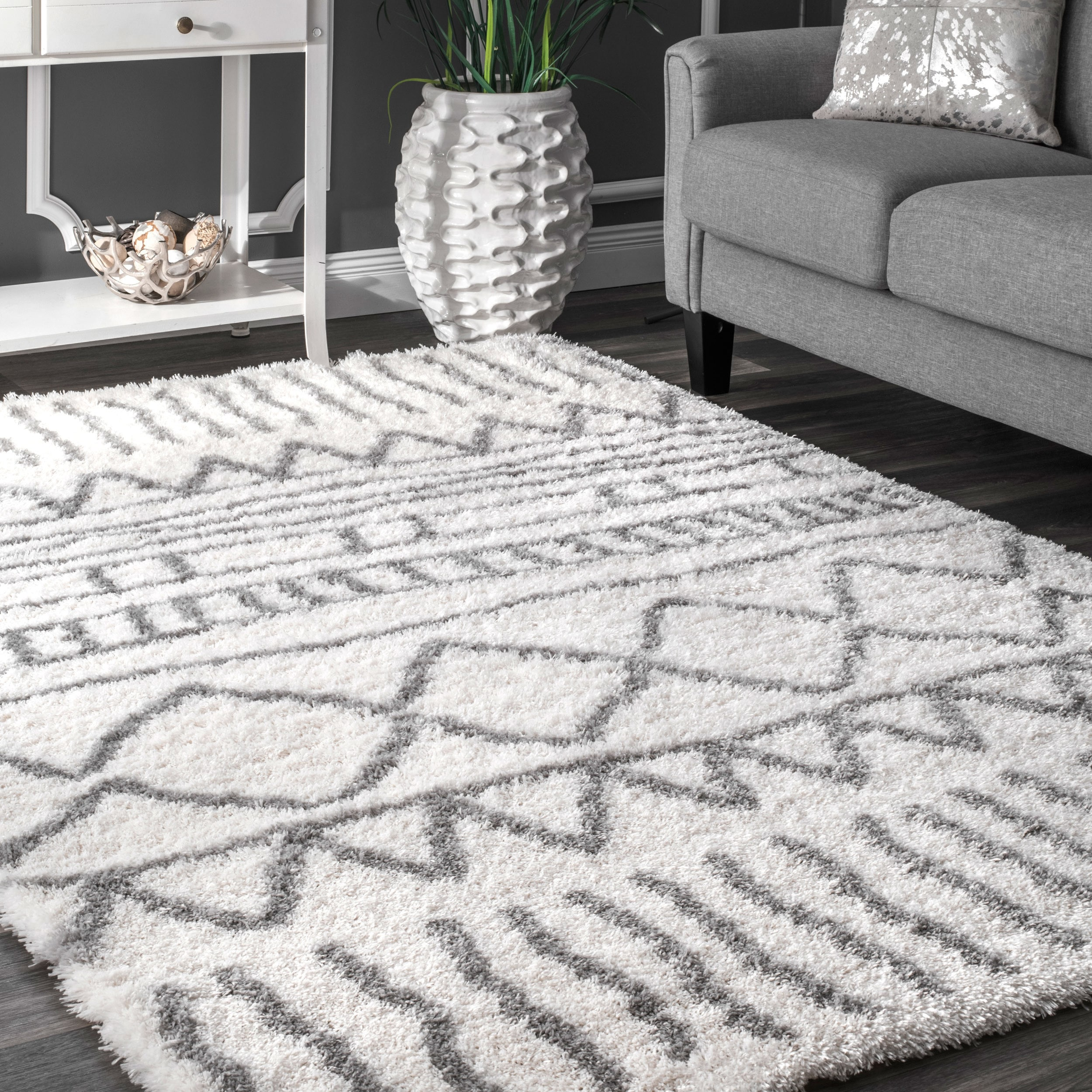 x and ft shag indoor white ivory w kas rugs gray actual area rug pd shop common l sofia grey