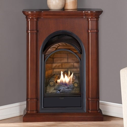 Duluth Forge Dual Fuel Ventless Fireplace With Mantel - 15,000 BTU ...