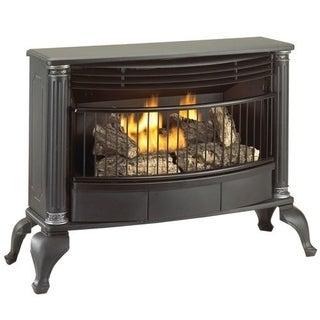 Cedar Ridge Hearth Ventless Natural Gas or Liquid Propane Gas Stove - 25,000 BTU, T-Stat, Model CRHQD250TA