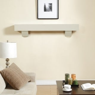 Duluth Forge 60-Inch Fireplace Shelf Mantel With Corbels - Antique White Finish