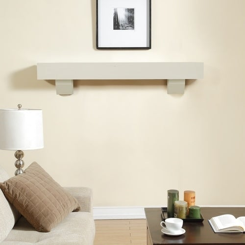 Derma-E Duluth Forge 60-Inch Fireplace Shelf Mantel With ...